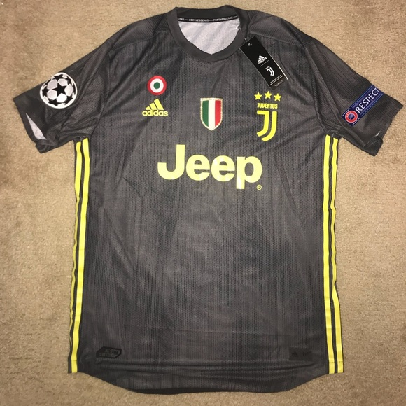 hot sale online d94f9 1d95e Juventus 18/19 Third kit Black Parley Jersey UCL NWT